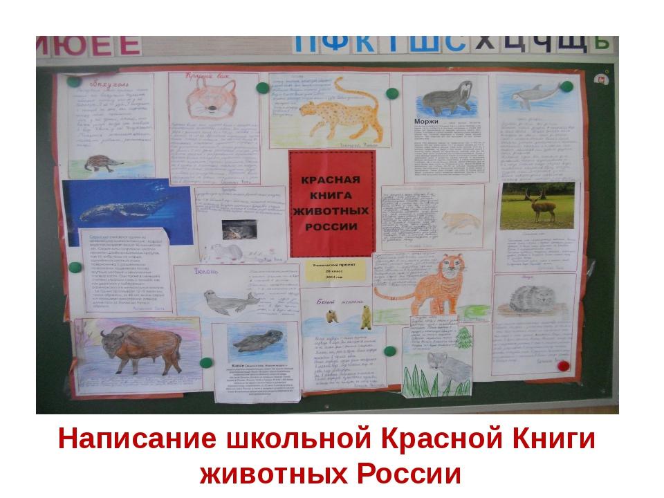 Написание школьной Красной Книги животных России