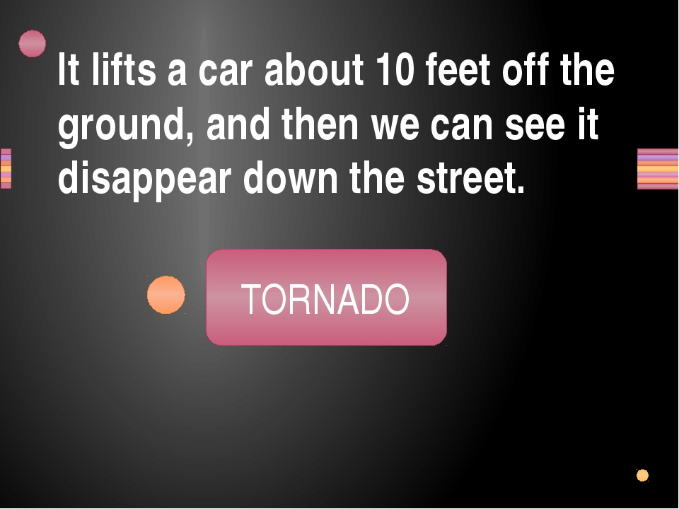 It lifts a car about 10 feet off the ground, and then we can see it disappear...