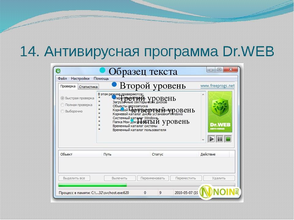 14. Антивирусная программа Dr.WEB