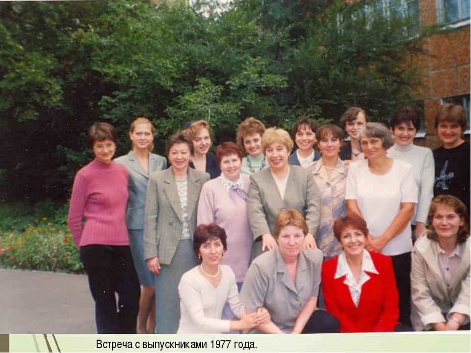 Встреча с выпускниками 1977 года.