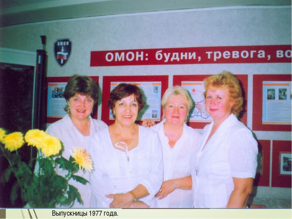 Выпускницы 1977 года.