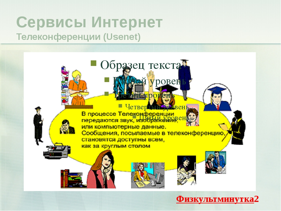 Сервисы Интернет Телеконференции (Usenet) Физкультминутка2