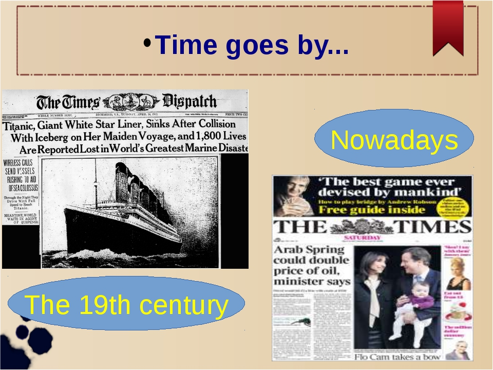 Time goes by... The 19th century Nowadays