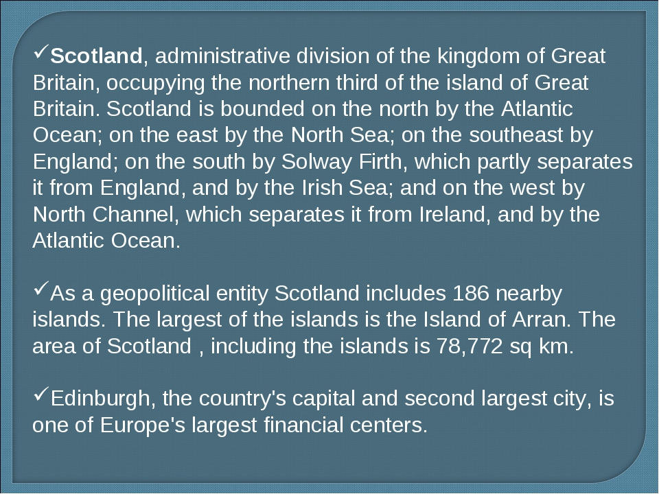 Scotland, administrative division of the kingdom of Great Britain, occupying...