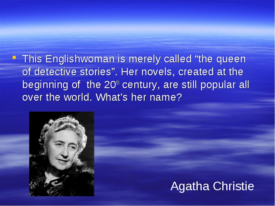 """Literature 50 This Englishwoman is merely called """"the queen of detective stor..."""