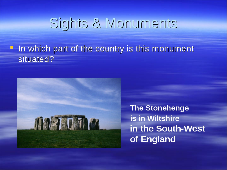 Sights & Monuments In which part of the country is this monument situated? Th...