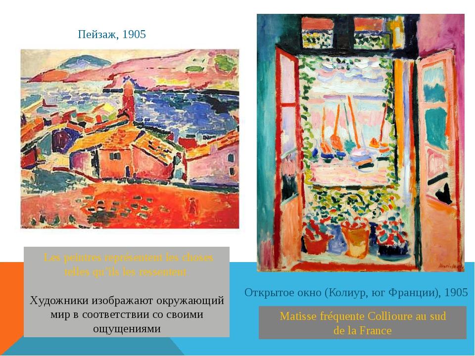 Matisse fréquente Collioure au sud de la France Открытое окно (Колиур, юг Фр...