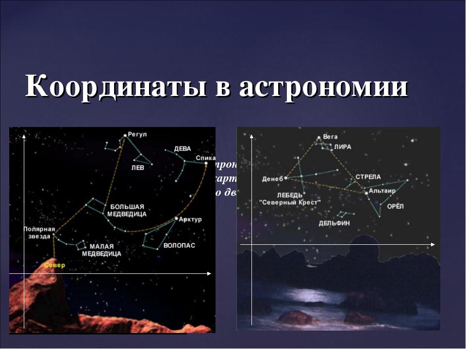 C помощью системы координат, астрономы определяют расстояние до звёзд, их мес...