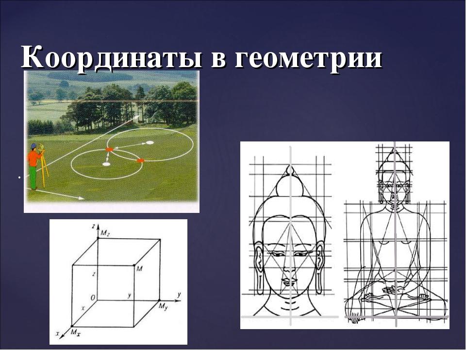 Координаты в геометрии .