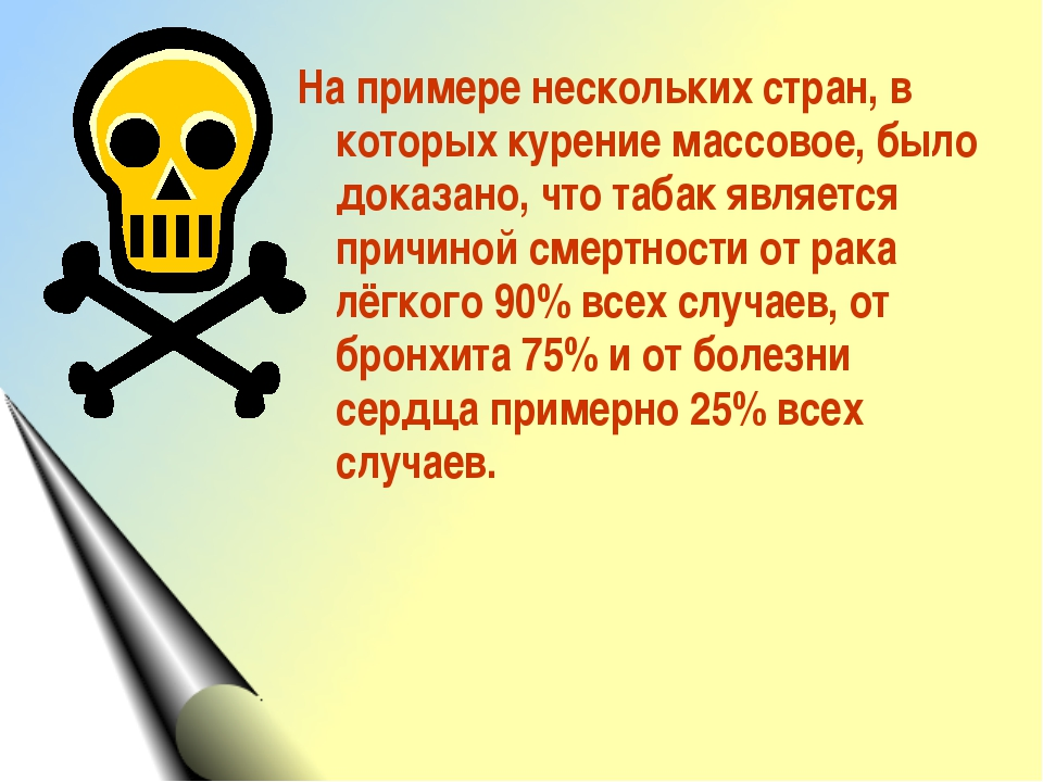 На примере нескольких стран, в которых курение массовое, было доказано, что т...