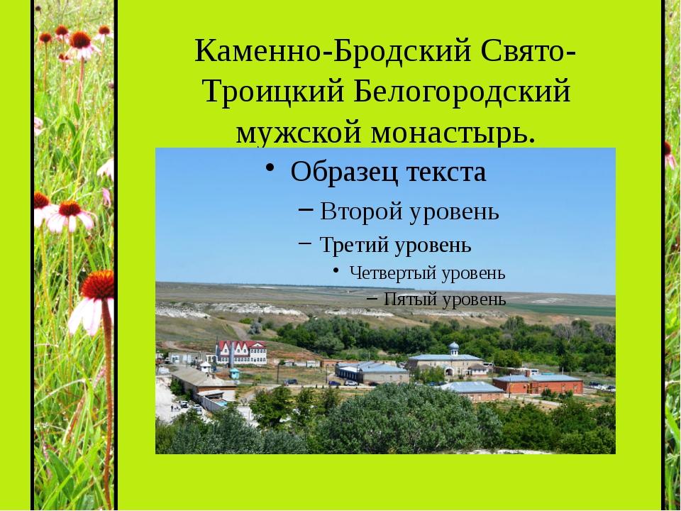 Каменно-Бродский Свято-Троицкий Белогородский мужской монастырь.