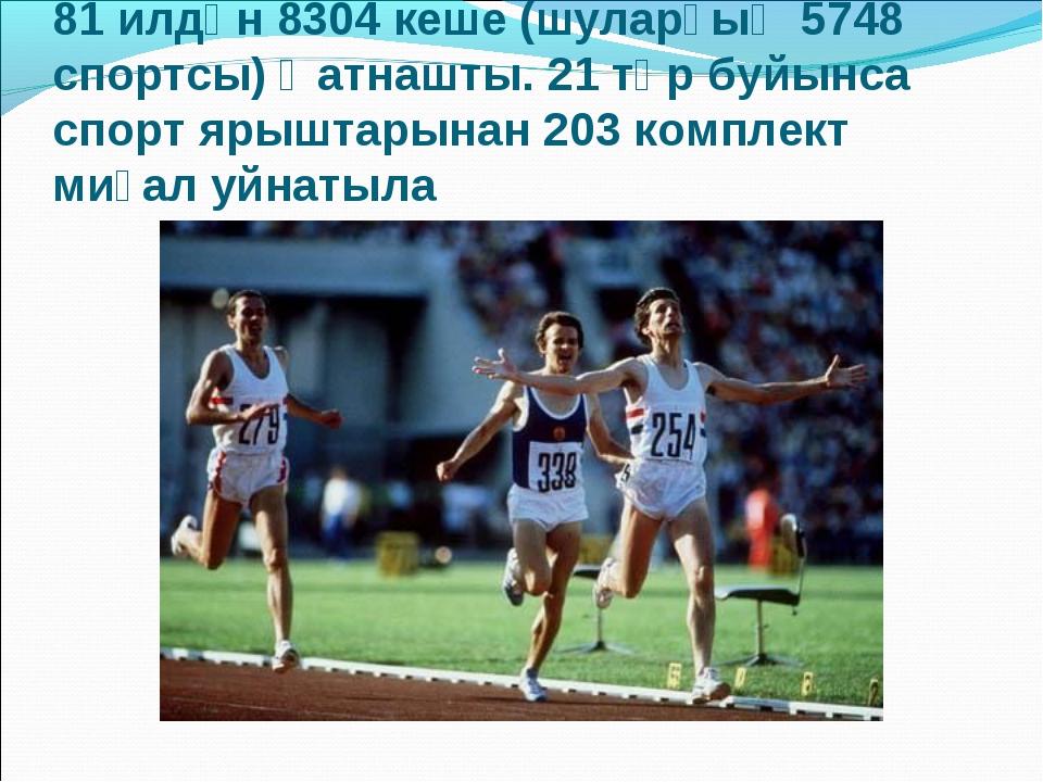 81 илдән 8304 кеше (шуларҙың 5748 спортсы) ҡатнашты. 21 төр буйынса спорт яры...