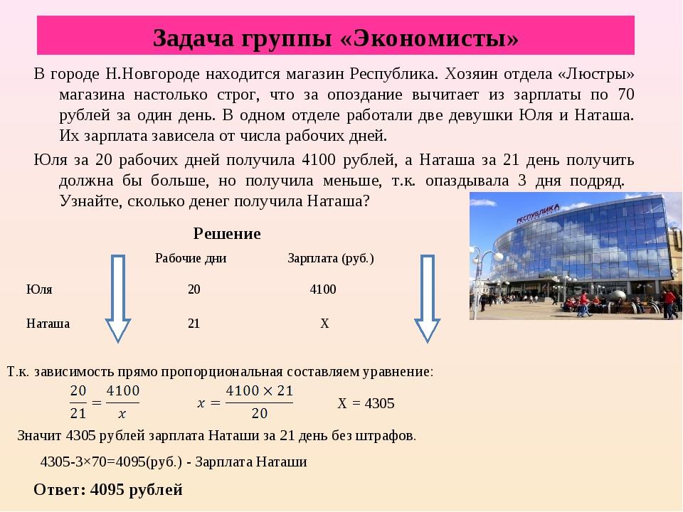 В городе Н.Новгороде находится магазин Республика. Хозяин отдела «Люстры» маг...