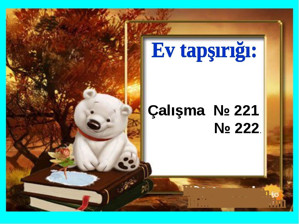 Çalışma № 221 № 222.