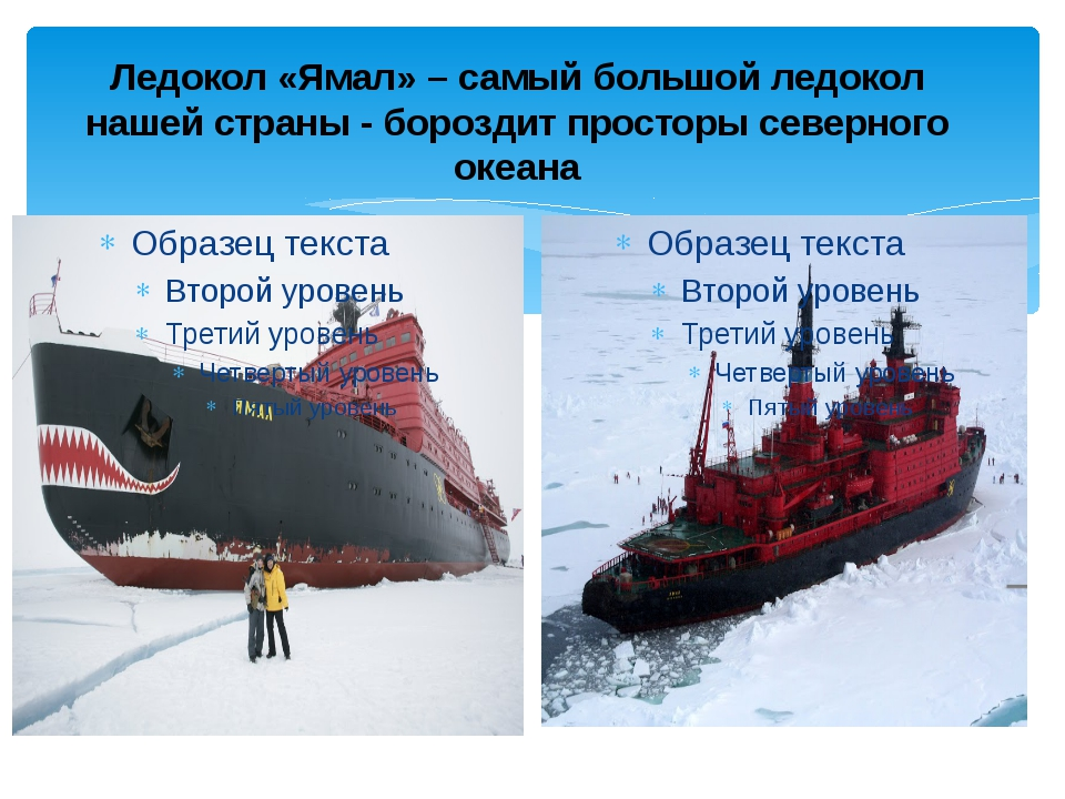 Ледокол «Ямал» – самый большой ледокол нашей страны - бороздит просторы север...