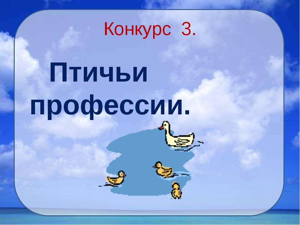 Конкурс 3. Птичьи профессии.