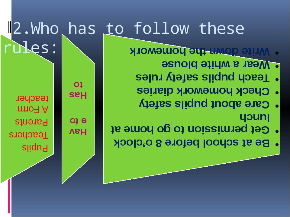 2.Who has to follow these rules: