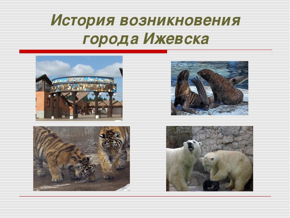 История возникновения города Ижевска