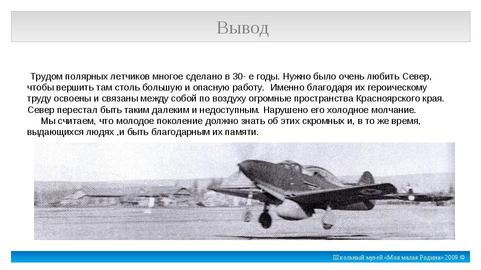 Трудом полярных летчиков многое сделано в 30- е годы. Нужно было очень любит...