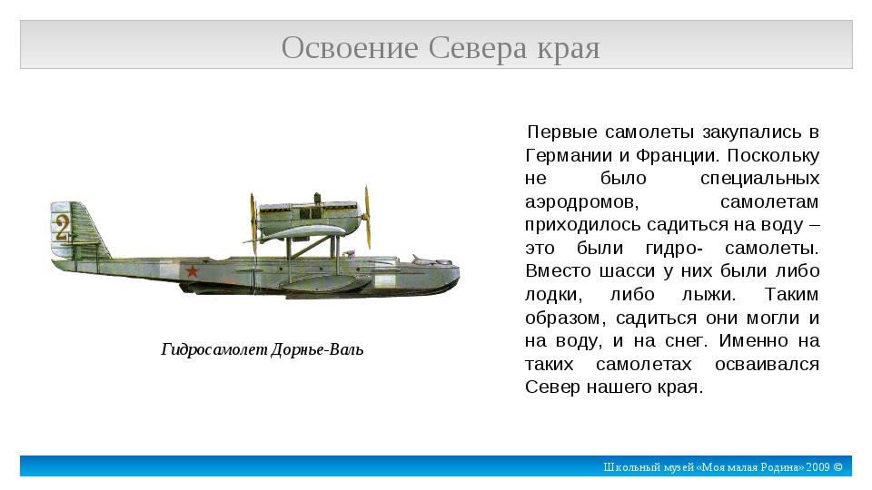 Первые самолеты закупались в Германии и Франции. Поскольку не было специальны...