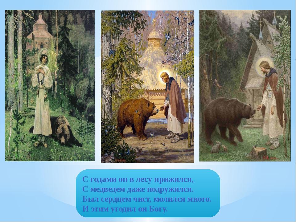 С годами он в лесу прижился, С медведем даже подружился. Был сердцем чист, мо...