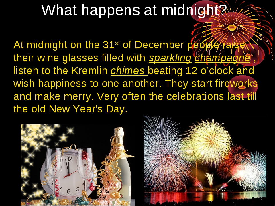 At midnight on the 31st of December people raise their wine glasses filled wi...