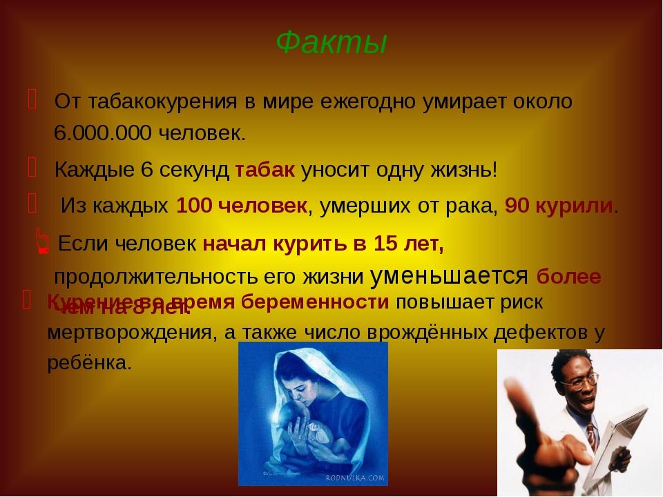 От табакокурения в мире ежегодно умирает около 6.000.000 человек. Каждые 6 с...
