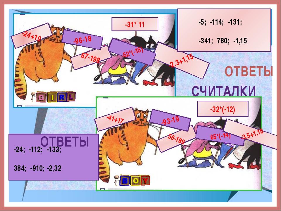 -24+19 56-189 -41+17 67-198 -2,3+1,15 -32*(-12) -93-19 65*(-14) -52*(-15) -96...