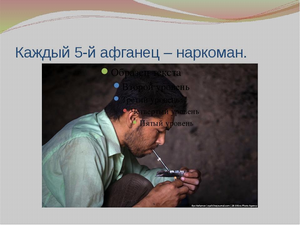 Каждый 5-й афганец – наркоман.