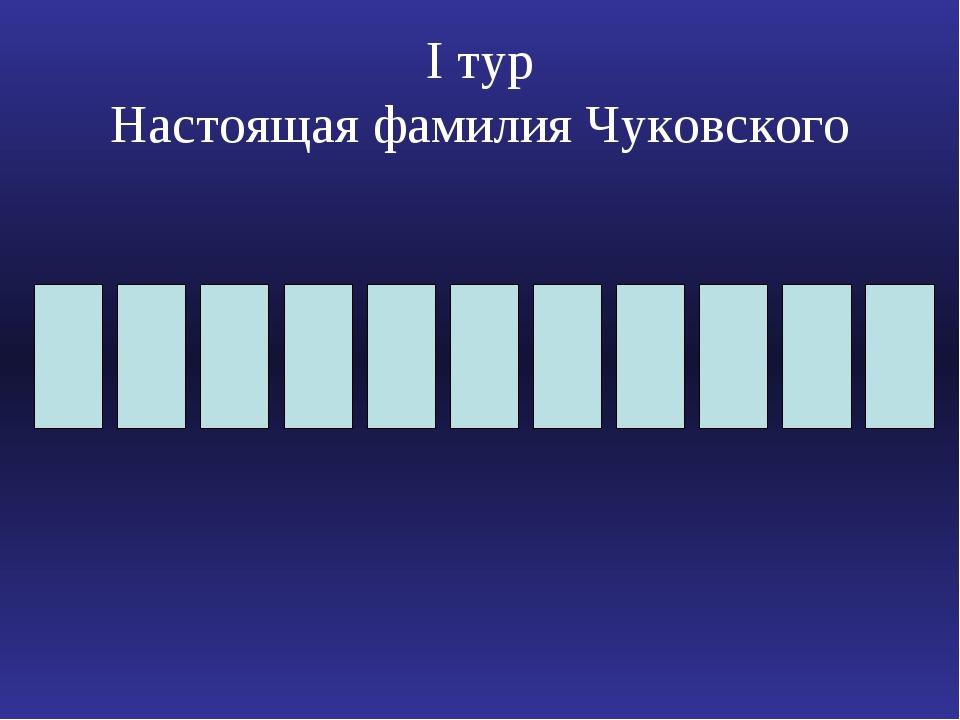 Ι тур Настоящая фамилия Чуковского