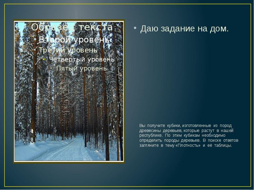 Вы получите кубики, изготовленные из пород древесины деревьев, которые расту...