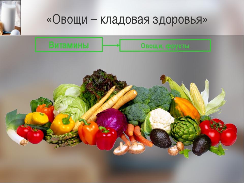 «Овощи – кладовая здоровья» Витамины Овощи, фрукты