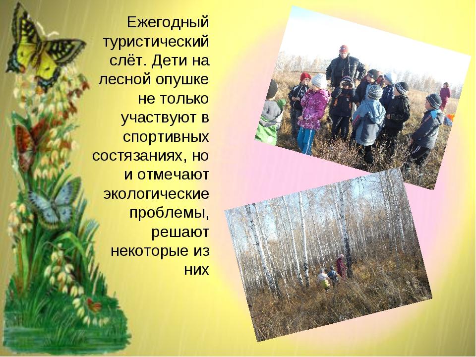 Ежегодный туристический слёт. Дети на лесной опушке не только участвуют в спо...