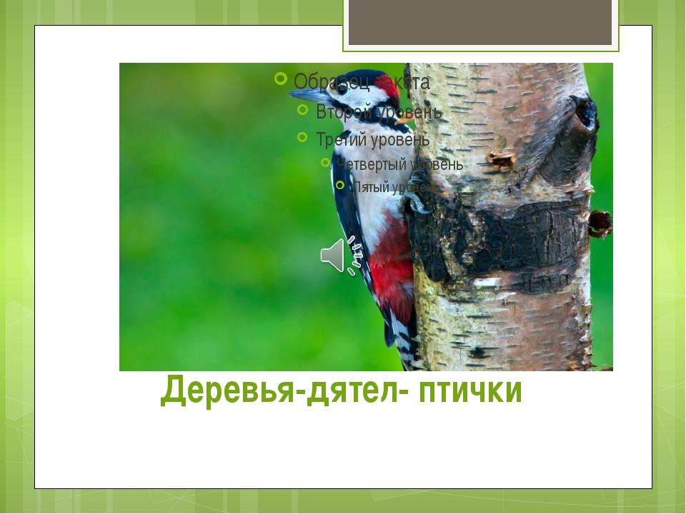 Деревья-дятел- птички