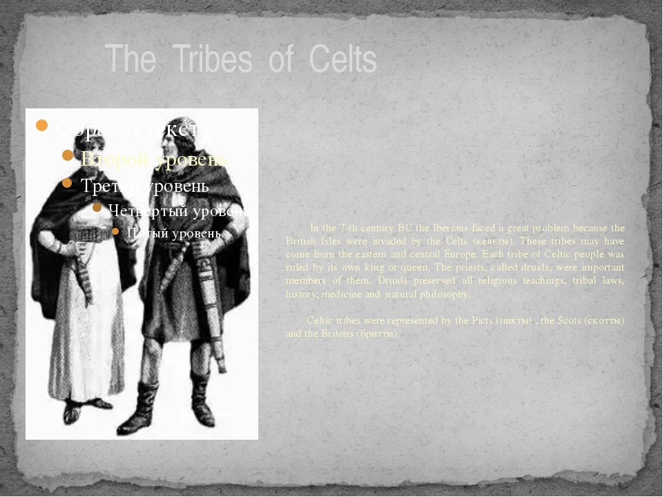 The Tribes of Celts In the 7-th century BC the Iberians faced a great proble...