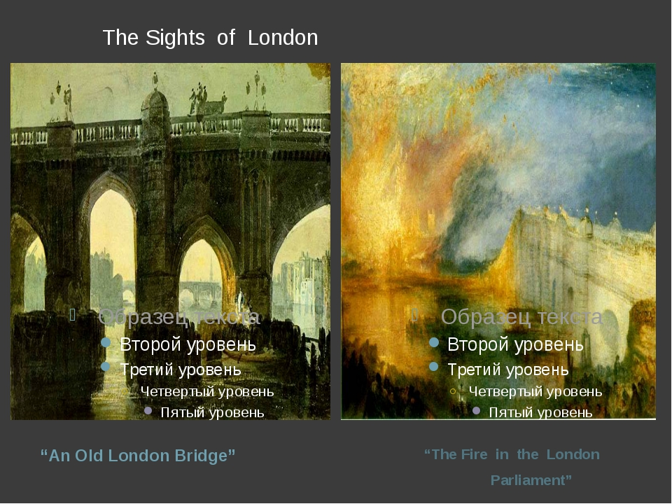 "The Sights of London ""An Old London Bridge"" ""The Fire in the London Parliame..."