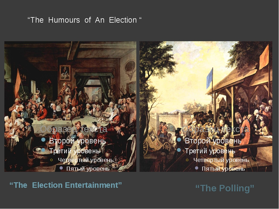 """The Humours of An Election "" ""The Election Entertainment"" ""The Polling"""