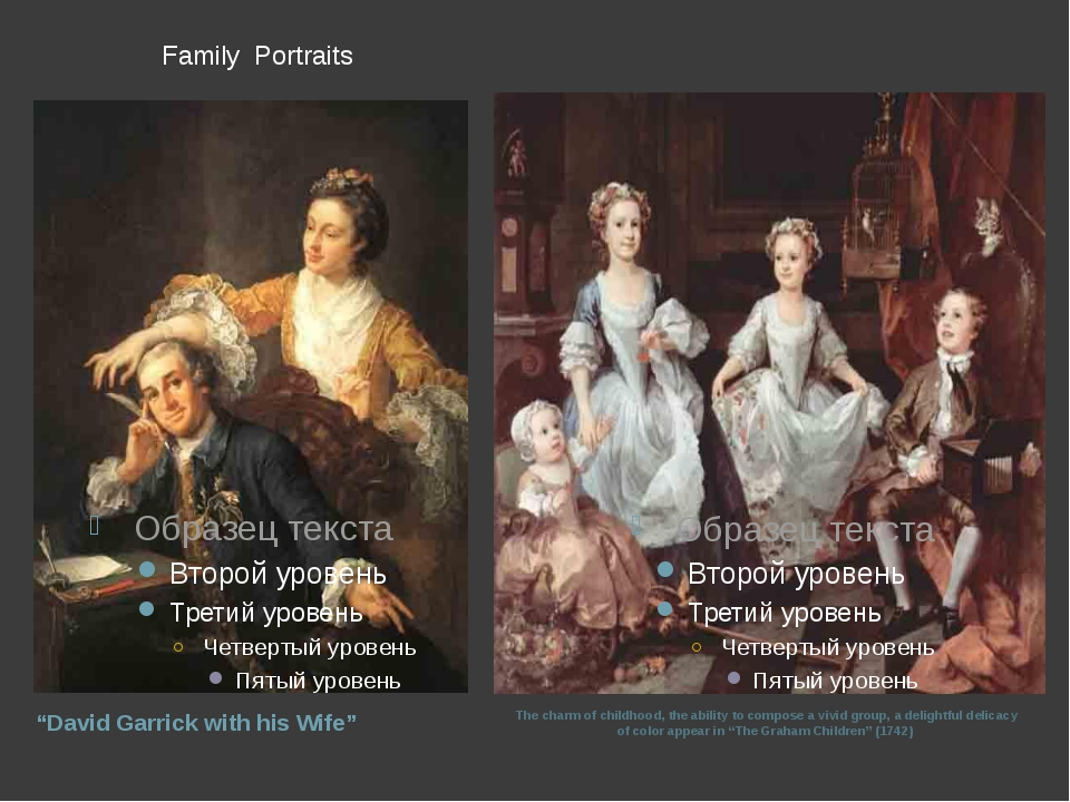 "Family Portraits ""David Garrick with his Wife"" The charm of childhood, the a..."
