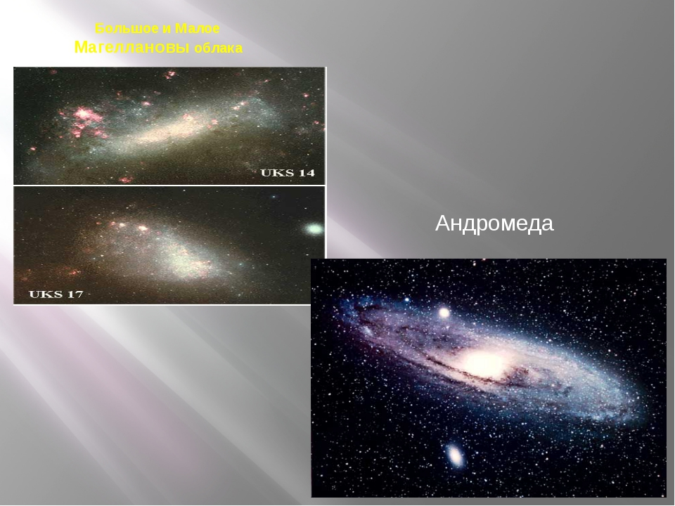 Большое и Малое Магеллановы облака Андромеда