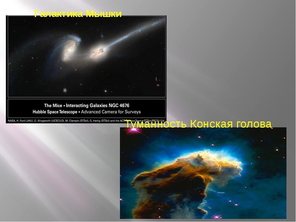 Галактика Мышки Туманность Конская голова