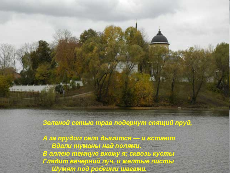 Зеленой сетью трав подернут спящий пруд, А за прудом село дымится — и встают...