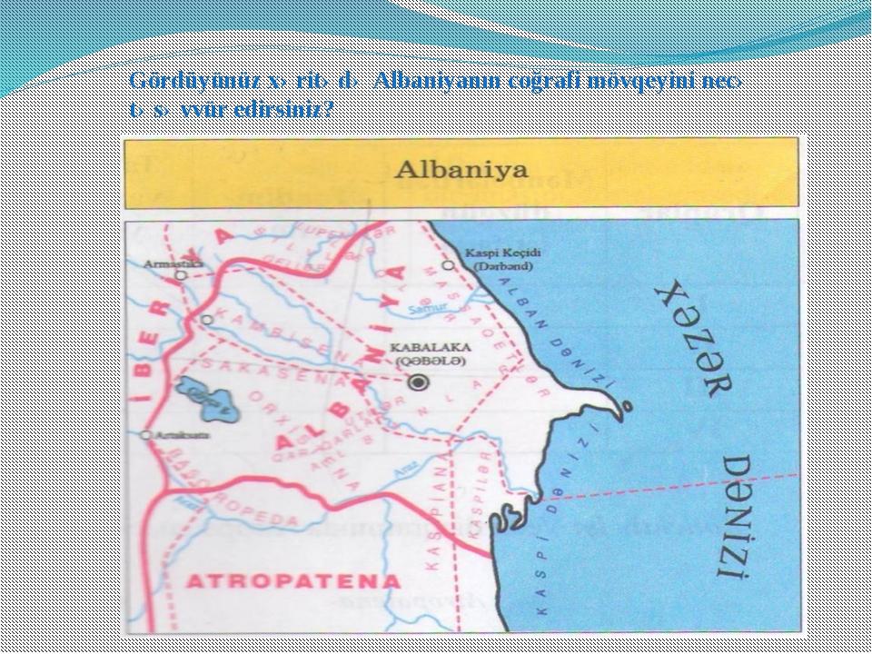 Gördüyünüz xəritədə Albaniyanın coğrafi mövqeyini necə təsəvvür edirsiniz?