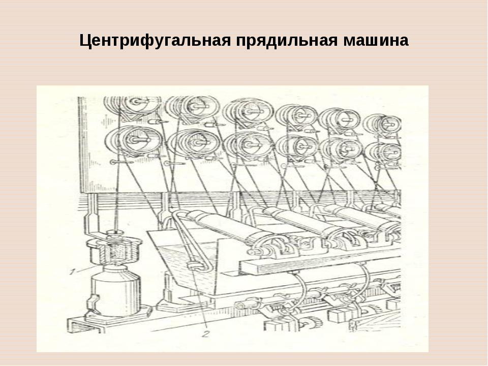 Центрифугальная прядильная машина 1 – центрифуга, 2 – фильера