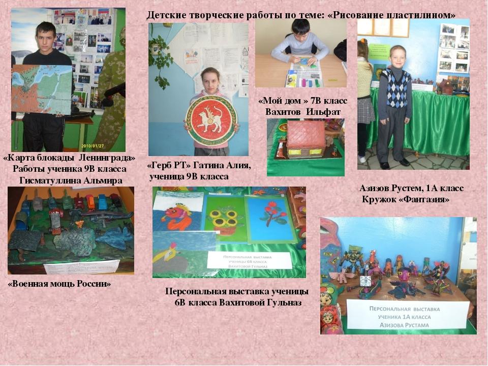 Детские творческие работы по теме: «Рисование пластилином» «Карта блокады Ле...