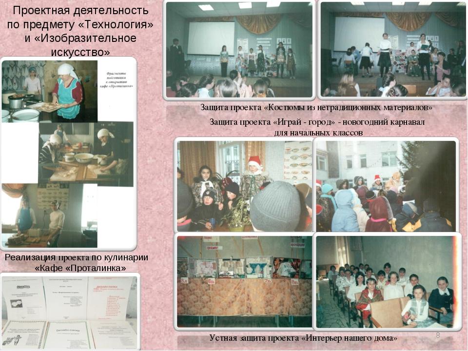 Реализация проекта по кулинарии «Кафе «Проталинка» Защита проекта «Костюмы из...
