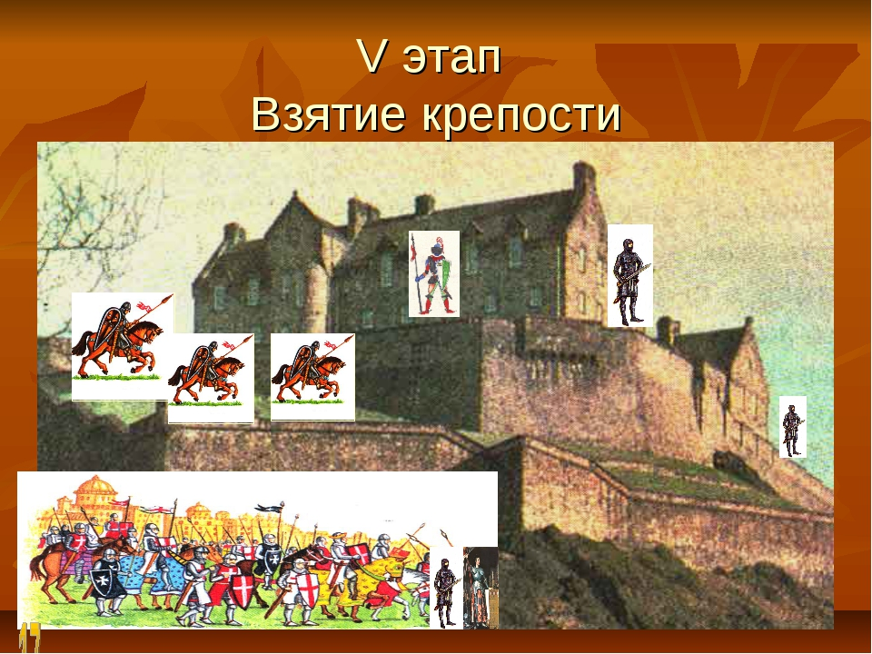 V этап Взятие крепости