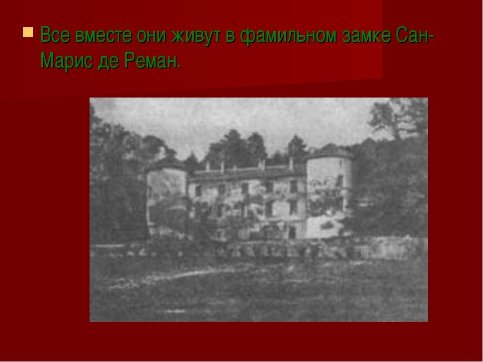 Все вместе они живут в фамильном замке Сан-Марис де Реман.