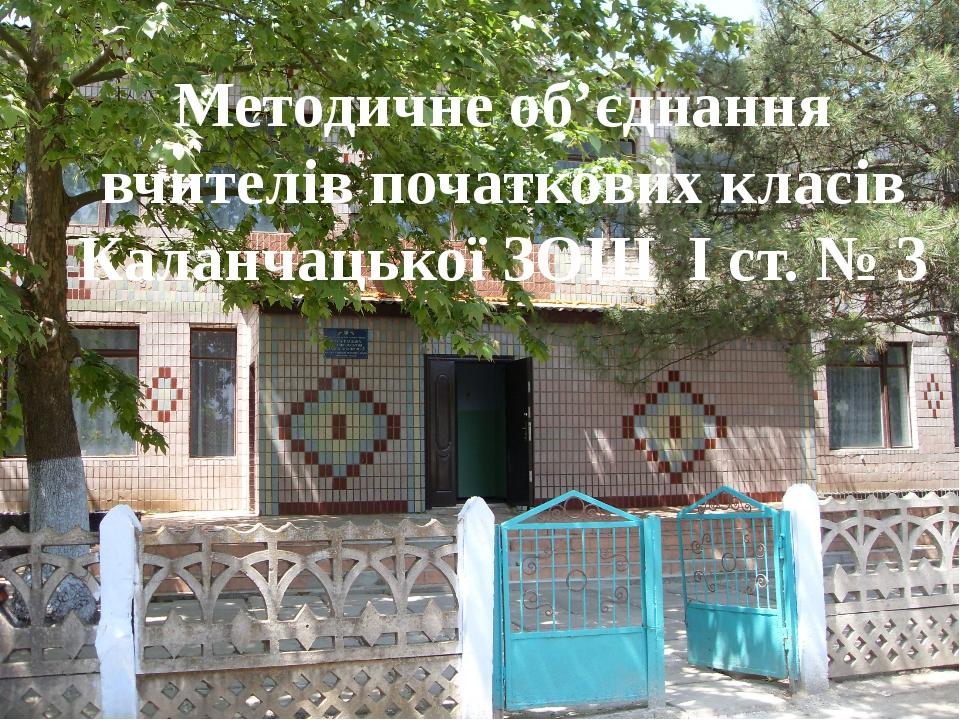 Методичне об'єднання вчителів початкових класів Каланчацької ЗОШ І ст. № 3