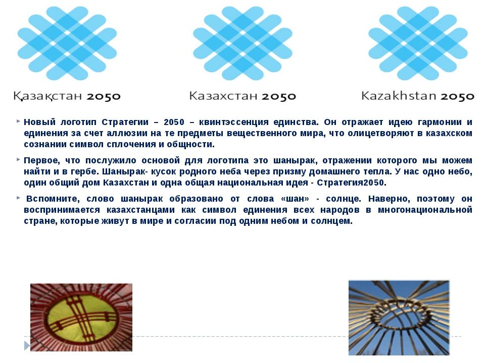 Новый логотип Стратегии – 2050 – квинтэссенция единства. Он отражает идею гар...