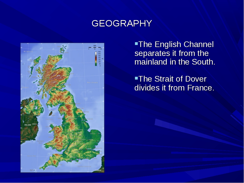 GEOGRAPHY The English Channel separates it from the mainland in the South. Th...
